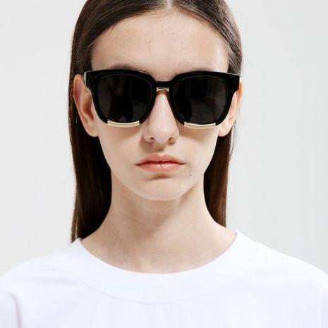 Korean retro square black and white flower rock sunglasses wholesale nihaojewelry  NHXU250301's discount tags
