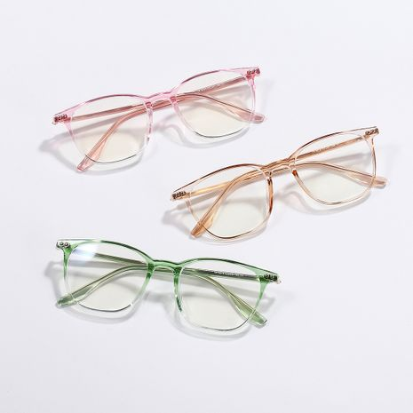 candy color square flat mirror memory frame anti-blue optical glasses wholesale  NHXU250313's discount tags