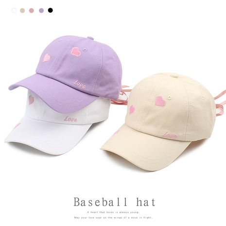 new love embroidered letter  Korean student fashion lace street casual baseball cap NHXO250324's discount tags
