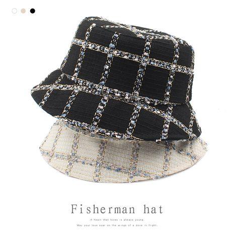 new black  Korean  fragrance retro fashion casual fisherman hat NHXO250326's discount tags