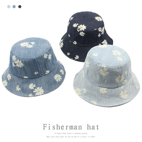 Korean casual print small daisy sun hat NHXO250327's discount tags