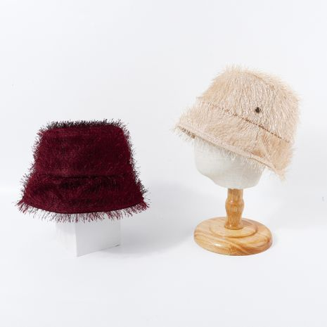 retro furry fisherman hat new fashion basin hat solid color hat wholesale nihaojewelry  NHTQ250349's discount tags