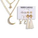 New Tassel 5 Piece Set Creative Retro Alloy necklace earrings set wholesale NHPJ250398