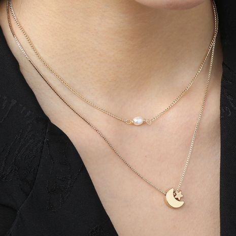 Fashion new star and moon pendant  necklace wholesale NHAN250498's discount tags