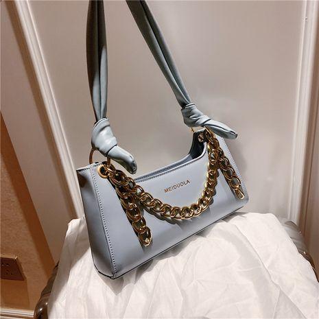 new trendy wild portable chain single shoulder armpit bag baguette bag NHLH250557's discount tags