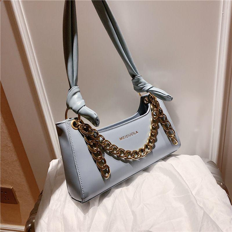 neue trendige wilde tragbare Kette Single Shoulder Achsel Tasche Baguette Tasche NHLH250557