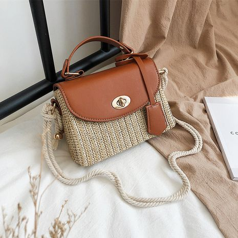 new fashion  trendy wild style portable messenger bag straw woven bag  NHLH250559's discount tags