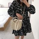 Summer popular woven handbags new fashion oneshoulder straw woven messenger bag wholesale NHLH250562