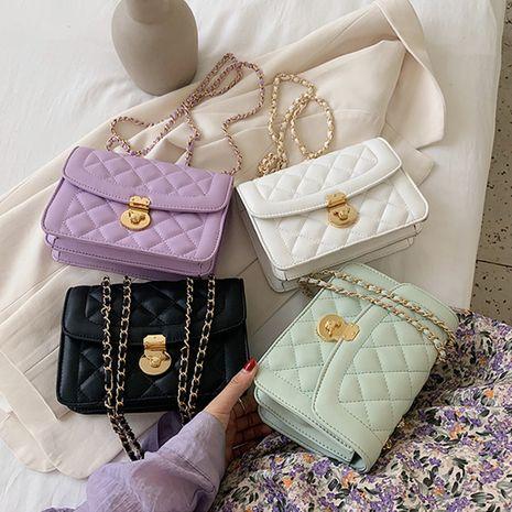 Summer handbags new fashion rhombus chain messenger bag single shoulder square bag wholesale NHLH250569's discount tags