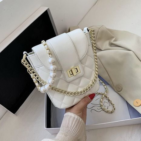 new rhombus chain messenger casual one-shoulder bucket bag wholesale NHLH250573's discount tags