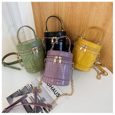 new portable crossbody summer texture crocodile pattern chain bucket bag wholesale NHLH250575's discount tags