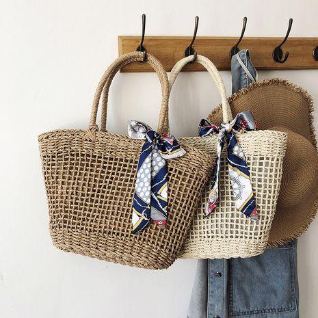 new Korean shoulder art beach woven bag wholesale NHLH250614's discount tags