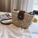 summer woven oneshoulder saddle fashion messenger straw bag wholesale NHLH250617