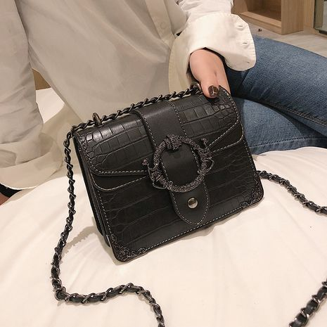 new style stone pattern chain diagonal fashionable shoulder bag wholesale  NHLH250620's discount tags
