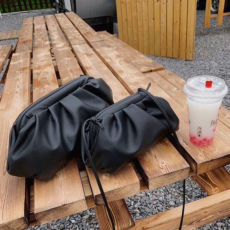 new Korean fashion air cloud bag simple solid color shoulder handbag wholesale NHLH250652's discount tags