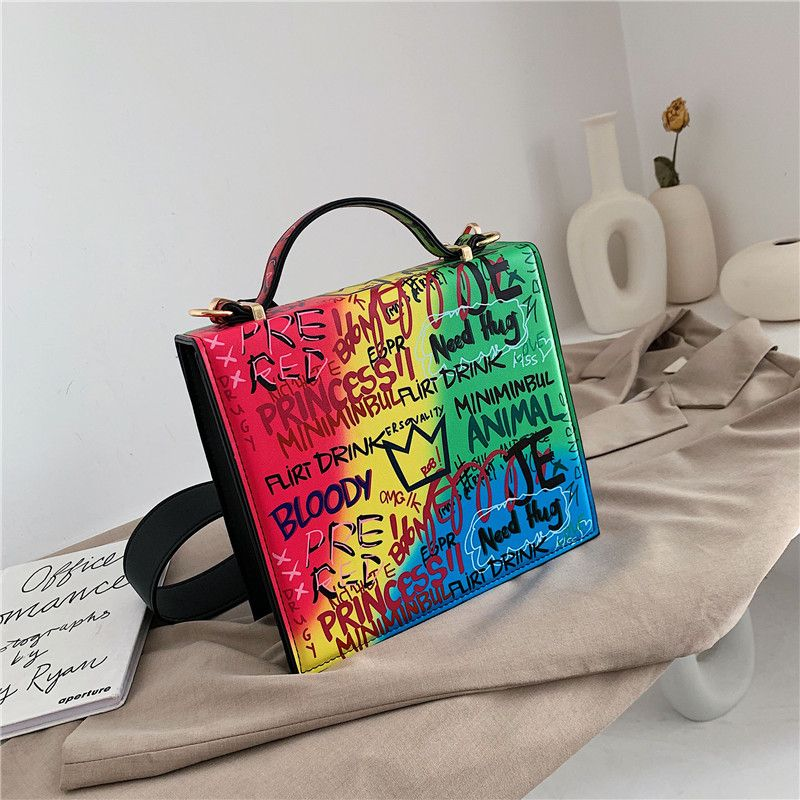 single-shoulder  fashion handbags new all-match color letter messenger square bag wholesale NHLH250743