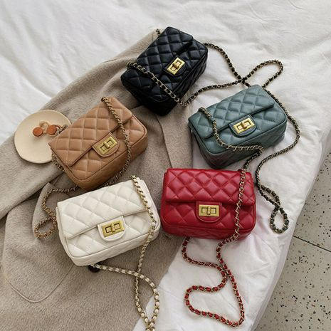 All-match messenger new fashion one-shoulder diamond chain small square bag wholesale NHLH250744's discount tags