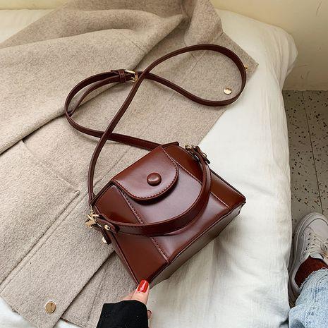 Retro texture new fashion messenger bucket bag  NHLH250749's discount tags