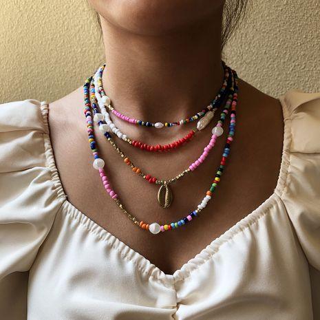 Collier en alliage de perles d'imitation de style ethnique de mode de perles de riz bohème NHMD250785's discount tags