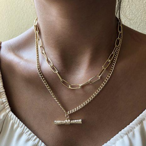 fashion   multi-layer chain simple clavicle chain  retro punk  necklace NHMD250800's discount tags