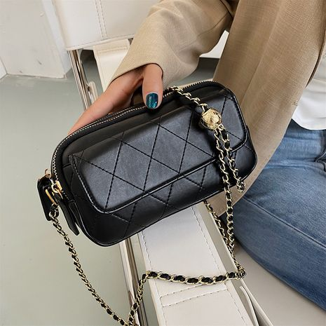 Korean new trendy simple  style rhombic chain stray bag NHJZ250806's discount tags