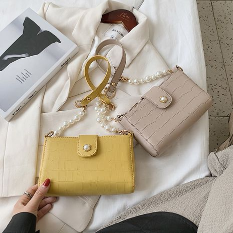 pearl portable new trendy texture retro underarm bag NHJZ250807's discount tags