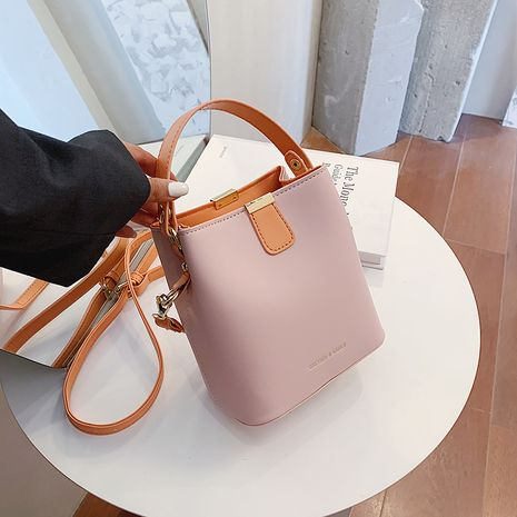 new trendy fashion  hit color all-match messenger bucket bag NHJZ250817's discount tags
