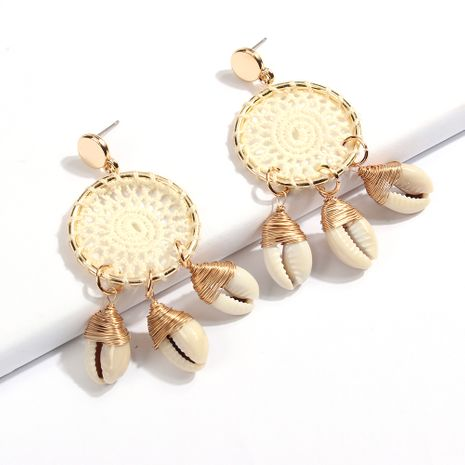 Fashion shell tassel ethnic style earrings for women wholesale NHMD250879's discount tags