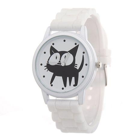 Lindo gato de ojos grandes de silicona de cuarzo reloj de silicona para niños NHSS240312's discount tags