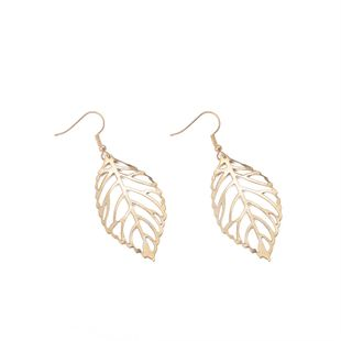 fashion simple metal leaf  hollow large leaf earrings wholesale  NHMO240326's discount tags