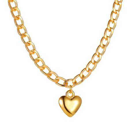 new punk stylelove trend peach heart pendant necklace wholesale nihaojewelry NHMO240330's discount tags