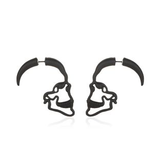 new fashion  punk style retro skull  creative hollow piercing  earrings wholesale  NHMO240337's discount tags