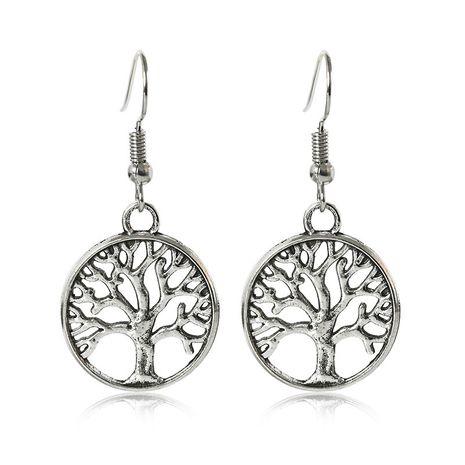 Pendientes colgantes de arbolito pequeño de árbol creativo de moda retro al por mayor NHMO240346's discount tags