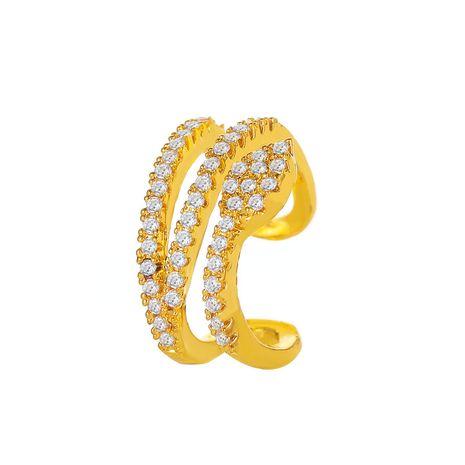 new fashion  retro snake-shaped ear clip  simple full diamond c-shaped ear bone clip NHMO240348's discount tags
