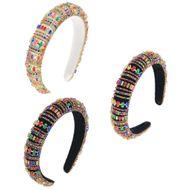 hot sale  Baroque crystal sponge headband 3CM wide headband  NHCO240370