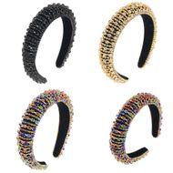 fashion three-color baroque crystal sponge headband 3CM wide headband  NHCO240371