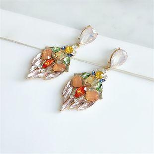 fashion new  rhinestone alloy  exaggerated full diamond flashing big earrings NHVA240404's discount tags