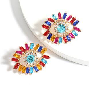 Color Diamond Series Alloy Acrylic  Eye Fashion Earrings wholesale nihaojewelry NHJE240416's discount tags