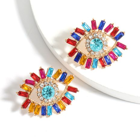 Color Diamond Series Alloy Acrylic  Eye Fashion Earrings wholesale nihaojewelry NHJE240416's discount tags