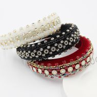 exaggerated sponge crystal diamond gemstone ladies prom headband NHWJ240450
