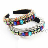 Baroque fashion luxury full diamond gemstone rhinestone headband  NHWJ240454