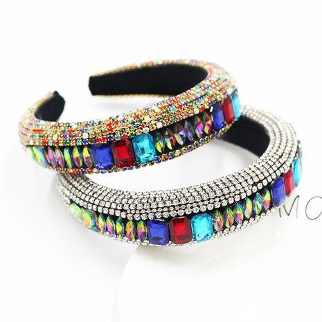 Diadema de diamantes de imitación de piedras preciosas llenas de diamantes de moda barroca NHWJ240454's discount tags