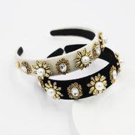 Baroque Flannel Fashion Metal Flower  Personality headband  NHWJ240455