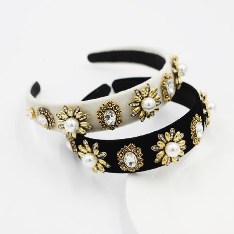 Diadema Barroca Franela Moda Metal Flor Personalidad NHWJ240455's discount tags