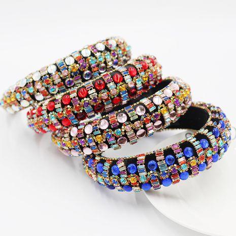 moda barroca calle lujo esponja rhinestone palacio estilo diadema NHWJ240457's discount tags