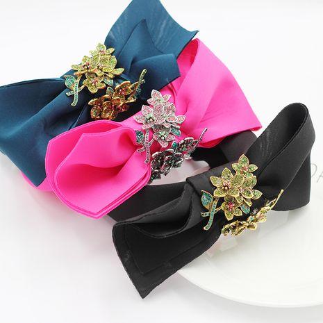 Nueva tela de moda bowknot flores diamantes diadema de personalidad de todo fósforo NHWJ240459's discount tags