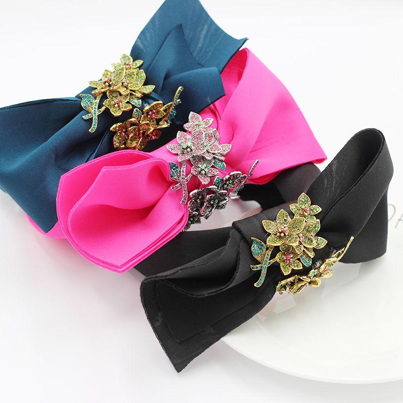 New fashion fabric bowknot flowers diamonds allmatch personality headband  NHWJ240459