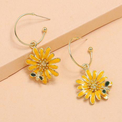 Korea Fashion Daisy Earrings S925 Silver Post Bee Flower Earrings wholesale nihaojewely NHKQ240464's discount tags