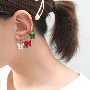 fashion hot-selling combination earrings simple retro imitation shell butterfly 8-piece earrings wholesale nihaojewely NHKQ240473's discount tags