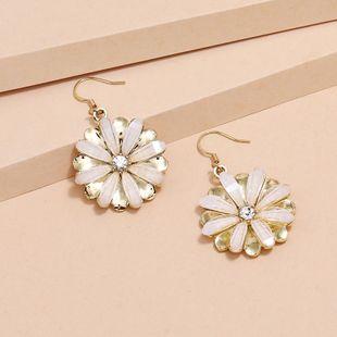 Korean Fashion creative Diamond Daisy S925 Earrings wholesale nihaojewelry NHKQ240484's discount tags